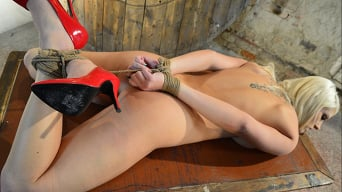 Ar in 'Blanche Hogtied Hard, Rope-Grabbed, and Tit-Grabbed'