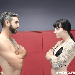 Charlotte Sartre in 'Kink Partners' Beautiful Tattooed Goth Babe Takes on Male in CompetitiveWrestling (Thumbnail 1)