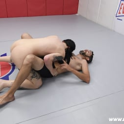 Charlotte Sartre in 'Kink Partners' Beautiful Tattooed Goth Babe Takes on Male in CompetitiveWrestling (Thumbnail 10)
