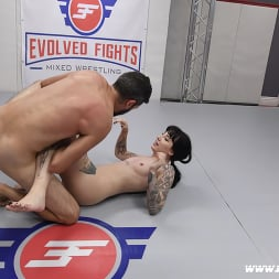 Charlotte Sartre in 'Kink Partners' Beautiful Tattooed Goth Babe Takes on Male in CompetitiveWrestling (Thumbnail 12)