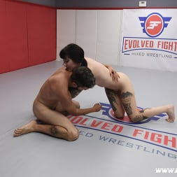 Charlotte Sartre in 'Kink Partners' Beautiful Tattooed Goth Babe Takes on Male in CompetitiveWrestling (Thumbnail 16)