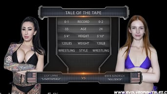 Lily Lane in 'Maya Kendrick vs. Lily Lane in Competitive Sex Fighting'