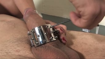 Slave in 'Spiked Masturbation'